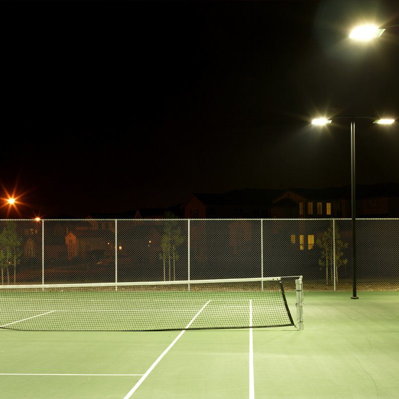Tennisbaan verlichting
